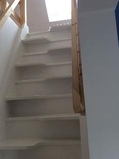 Steep stairs to loft bedroom