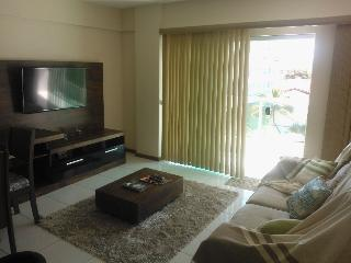 Sala com TV  HD e a cabo.