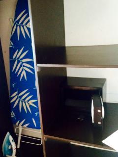 caja seguridad y equipo de planchado