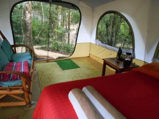 Luxury cabin tent in a jungle santuary, Tulum