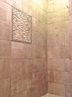 Spacious walk in shower