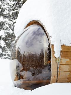 Outdoor Scenic Wood Fired Sauna - Marmotte Mountain Retreat