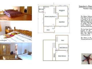 Floor plans 2 bedrooms plus master bedroom.