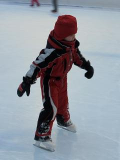 Ice Skating in the centre of the village