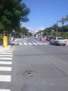 Calle principal. La Pineda.