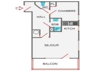 GRAND CRET Studio + small bedroom 4 persons, Le Grand-Bornand