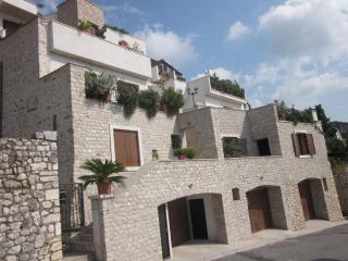 the stone court in the historical centre of Sermoneta