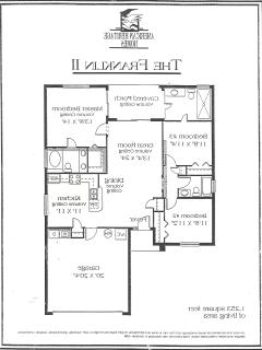 Our actual floor plan with Double garage located to the left