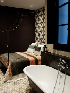 The Principal Bedroom Suite with a free standing bath.