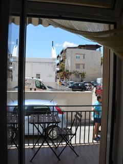 The view from the house of the square next to the church of the fishermen