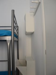 Bunk bed with its shoe