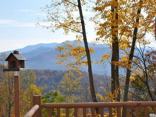 MooseHead Lodge - Mountainside Cabin with Sweeping Long Range Views Less than 15 Minutes from the Great Smoky Mountain Railroad, Bryson City