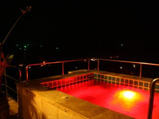 colored lighting in jacuzzi fantastic views at night