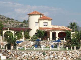 Rear view of the villa