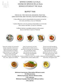 Buffet Thai