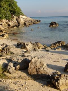 Cove beach 5 minute walk