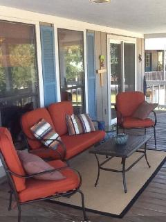Relaxing deck with views of Little Dauphin Island
