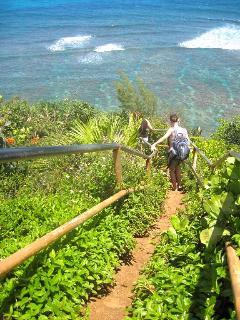 Path to Hideaways Beach