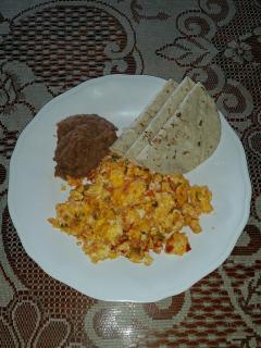 mexican eggs w/ fresh tortillas