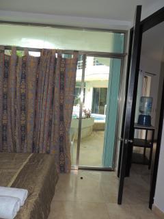 view from lower floor 2 bedroom apartmentm bedroom window