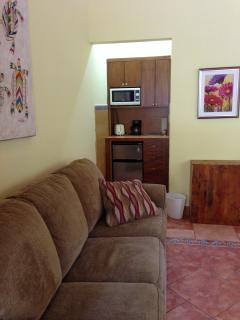 Tortuga Room, queen sofa bed, kitchenette