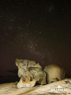 Remarkable rocks under the stars