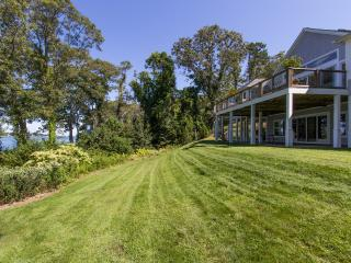 PRIOB - Modern Waterfront Estate Home, Luxury Features Throughout, Expansive Deck with Outstanding Views Across the Lagoon, Beautifully Landscaped Yard, Vineyard Haven