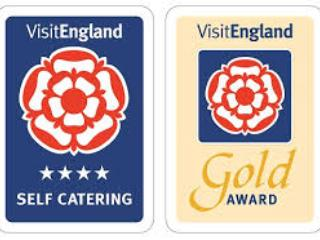 Officially 4 star and gold rated by VisitEngland