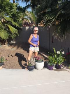 myself and the area, before I dug it up and put in another garden of plants and flowers...