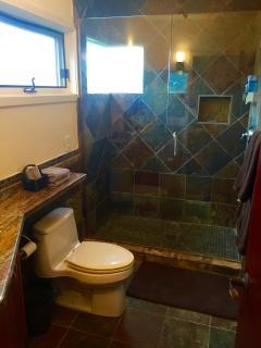Bathroom with rainfall shower