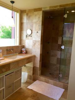Master bathroom with rainfall shower