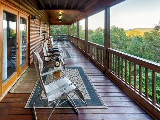 Discover this stunning cabin rental located in the hills only two miles from downtown Blue Ridge. A large, spacious 4 bedroom with scenic mountain views.