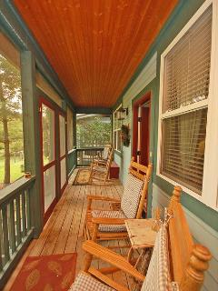 Rock Your Days Away on The Screened Porch Overlooking the Pasture