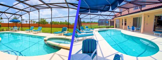Extra large pool with an Extended Lanai