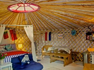 Luxury Yurt on a private peninsula with sea views