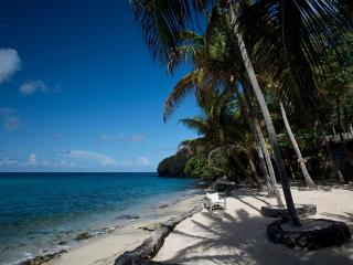 White sandy beach below Tranquility - swimming, snorkeling , reading or just soaking up the sun