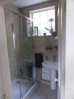 Shower room with separate toilet. All towels and bath robes supplied.