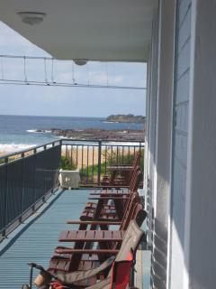 Enjoy cooling breezes on the balcony