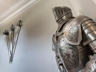 A knight in shining armour awaits
