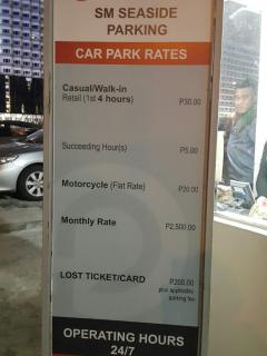 Car Park Rates.