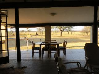The veranda with dining table