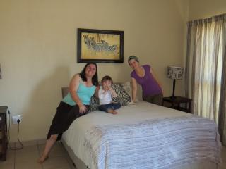 Zebra room with double bed and en suite bathroom
