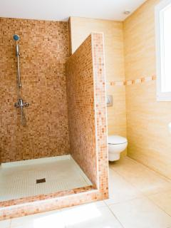 The Private Bathroom In The Master Suite with Huge Walk In Shower