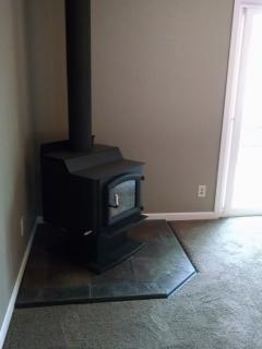 Renovation 2015-New Wood Stove/Carpet/Slider-Living Room