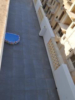 terrace measuring 50x14 feet