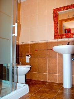 Baño suite con ducha