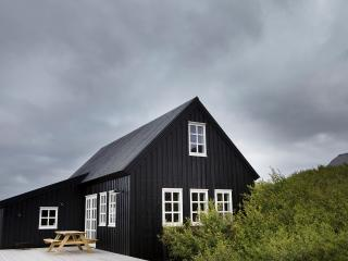 Traditional black timber house, Borgarnes