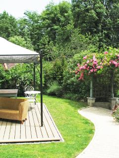 The Gazebo with seating and Dining Table.