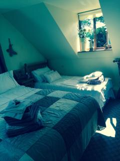 Master bedroom double & single bed
