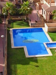 Pool directly below apartment